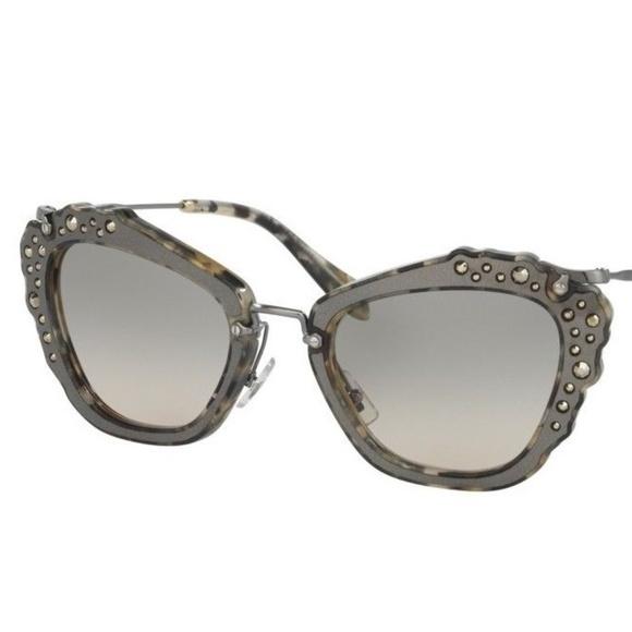 bc6251037de7 Miu Miu Accessories | Embellished Cat Eye Sunglasses | Poshmark